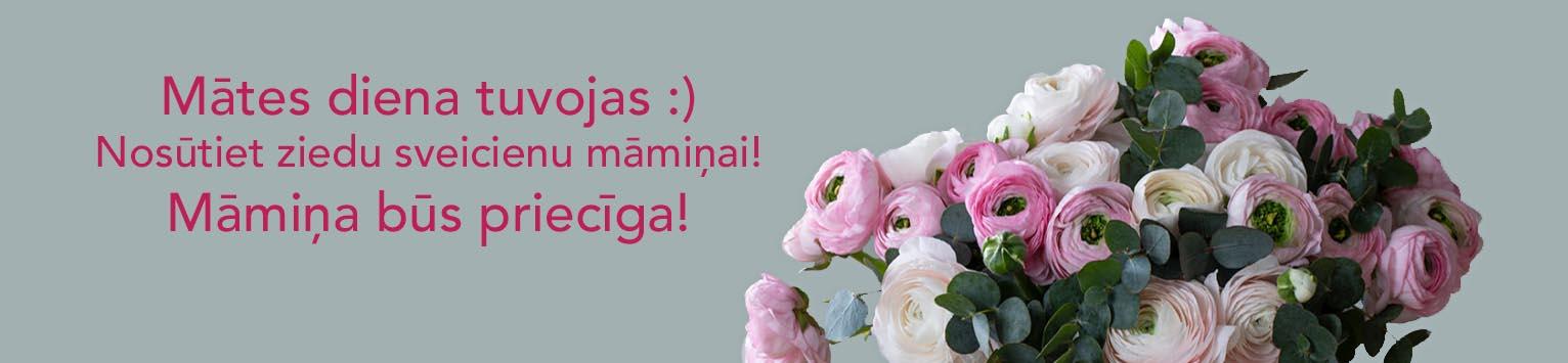 Ziedi ar piegādi Mātes dienā