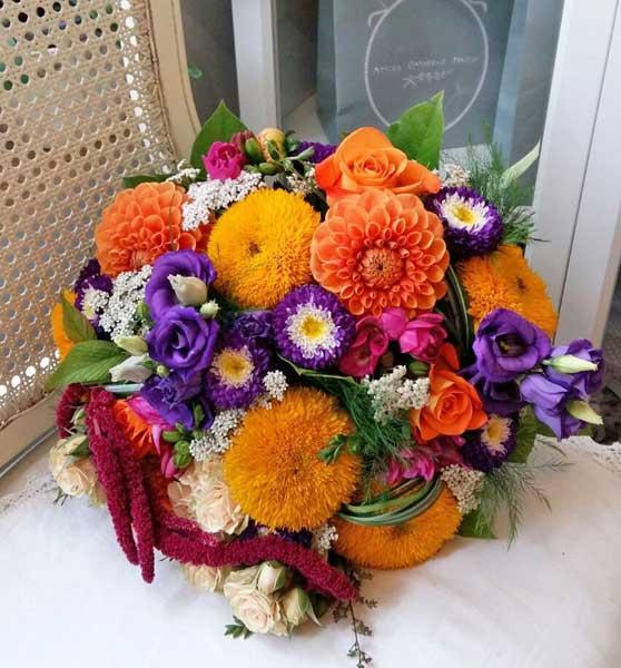 Līgavas pušķis no vasaras ziediem