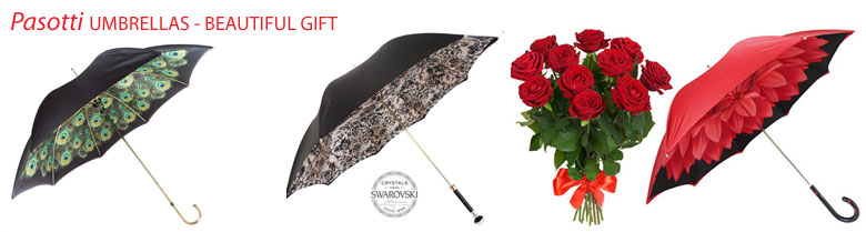 Flowers and Pasotti Umbrellas - clik here!