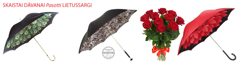 Ziedi un Pasotti lietussargi - ienāciet šeit!