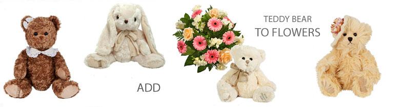 Flowers and Teddy Bear