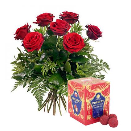 Цветы и конфеты: Красный бархат