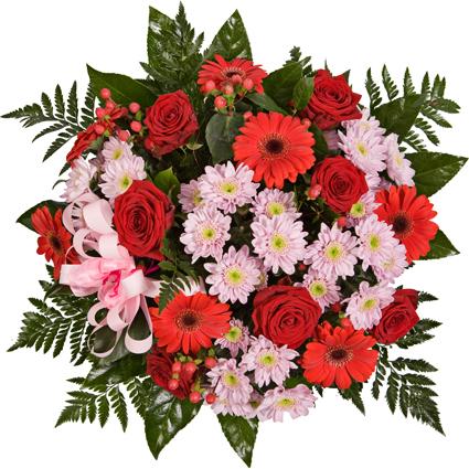 Ziedu pušķis: Daudz mīļu sveicienu!