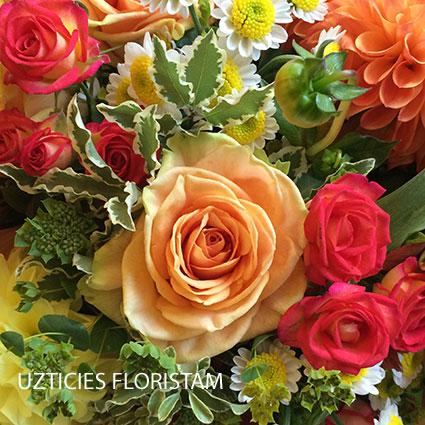 Ziedi Rīga. Grūti izlemt, kurus ziedus pasūtīt? Ļaujiet mūsu floristiem piedāvāt savu risinājumu. Pušķa cena 29.00 vai 39.00