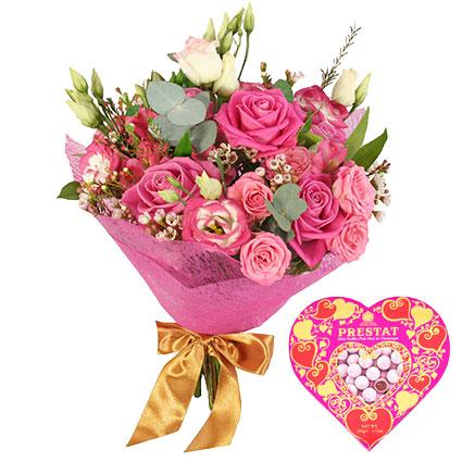 Цветы и конфеты: Моё золотое сердечко!