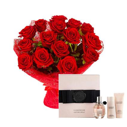Ziedi un smaržas VIKTOR & ROLF FLOWERBOMB (dāvanu komplekts)