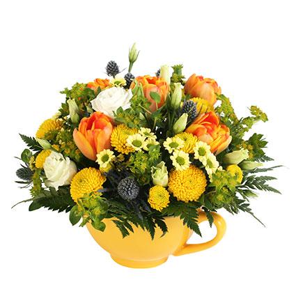 Ziedu kompozīcija: Pavasara smaids