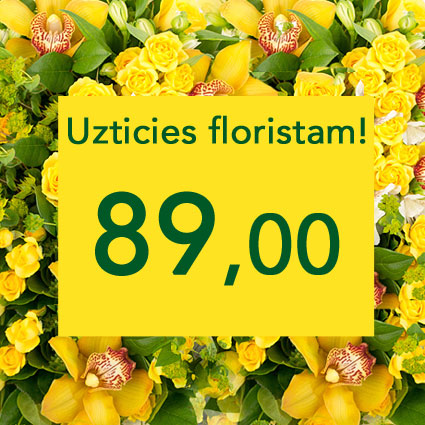 Ziedi un to piegāde. Uzticies floristam! Izveidosim skaistu pušķi dzeltenos toņos izvēlētās summas ietvaros. Pārsteigums un