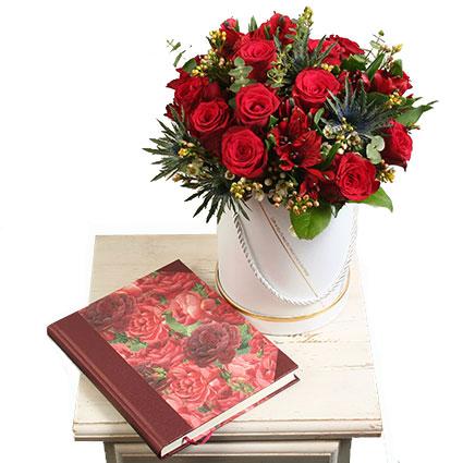 Dāvanu komplekts: Ziedi un piezīmju grāmata