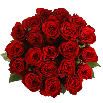 Ziedu pušķī 21 sarkana roze
