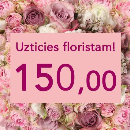 Ziedi Rīga. Uzticies floristam! Izveidosim skaistu pušķi rozā toņos izvēlētās summas ietvaros. Pārsteigums un prieks