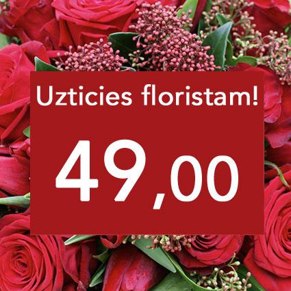Flower Bouquet In Red Tones
