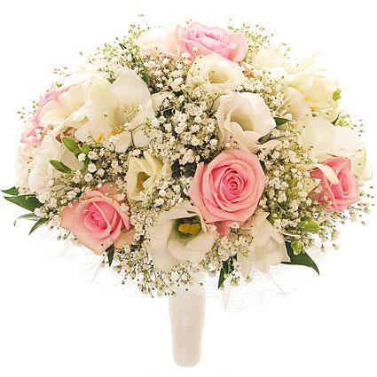Līgavas pušķis. Ziedu piegāde Rīgā