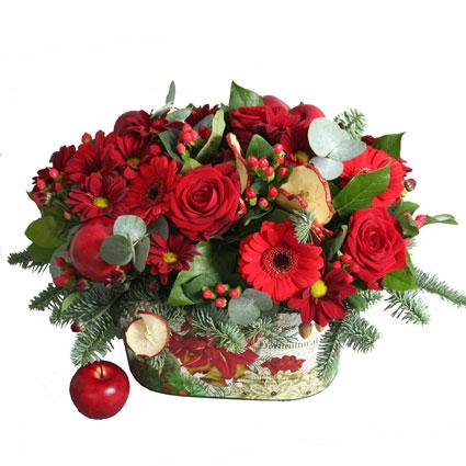 Ziedu kompozīcija: Ziemas košums