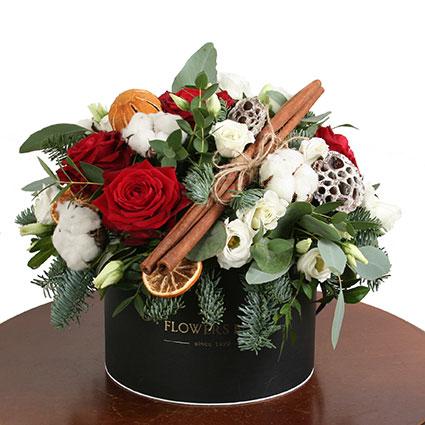 Цветочная коробка: С праздником!