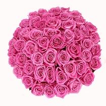 Rozā rožu pušķis