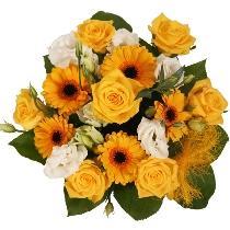 Mīļš, jauks, starojošs ziedu pušķis
