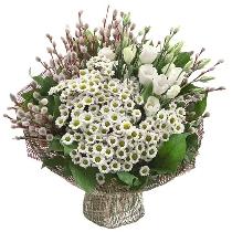 Ziedu pušķis: Baltais