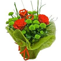 Ziedu kompozīcija: Lai sirsniņai silti