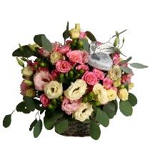 Ziedu kompozīcija un dāvana: Mon Amour