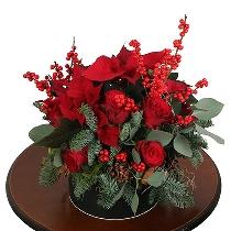 Ziedu kārba: Svētku brīnums. Piegāde Rīgā