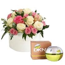 Ziedu kārba un Donna Karan DKNY Be Delicious EDP 100 ml