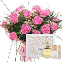 Ziedi un smaržas VERSACE Eros Pour Femme EDT (dāvanu komplekts). Piegāde Rīgā
