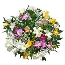 Ziedu pušķis: Frēziju smarža. Ziedu piegāde Rīgā